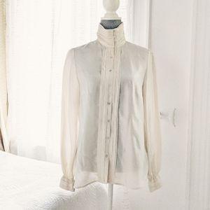 NWOT - Zara 100% silk cream blouse